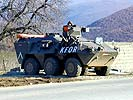 KFOR checkpoint in Kosovo. (Image opens in new window)